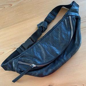 ASOS Black Leather Fanny Pack / Belt Bag